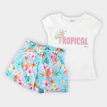 Conjunto Infantil Elian Floral Feminino -