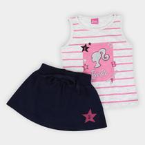 Conjunto Infantil Fakini Barbie Feminino -