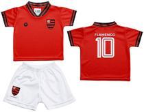 Conjunto Infantil Flamengo Uniforme Vermelho - Torcida Baby - Revedor