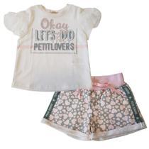 Conjunto Infantil Inverno Petit Cherie Sweet Flower 18036 -