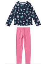 Conjunto Infantil Menina Blusa Legging Inverno Malwee Estampado -