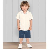 Conjunto Infantil Menino Bermuda E Camisa Trick Nick Tubarão - Anjo Da Mamãe