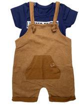 Conjunto Infantil Menino Blusa e Jardineira-Costão -