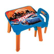 Conjunto Infantil Mesa Com Cadeira Hot Wheels 6927-0 Fun