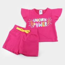 Conjunto Infantil Mia Kids Estampado Feminino -