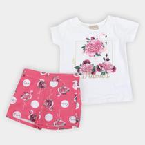 Conjunto Infantil Milon Flamingos Feminino -