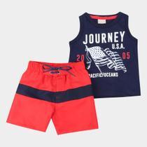 Conjunto Infantil Milon Journey USA Masculino -