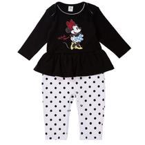 Conjunto Infantil - Minnie - 100% Algodão - Vermelho - Disney -