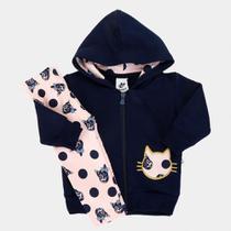 Conjunto Infantil Moletom Andritex Longo Cats Feminino -