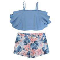 Conjunto Infantil Momi Blusa e Short Floral -