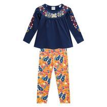 Conjunto Infantil Nanai Blusa E Legging Floral Feminino -