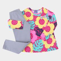Conjunto Infantil Pipa Floral Feminino -