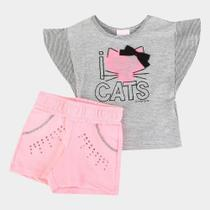 Conjunto Infantil Quimby Cats Feminino -