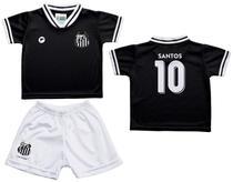 Conjunto Infantil Santos Uniforme Preto - Torcida Baby d94142e61bdf3