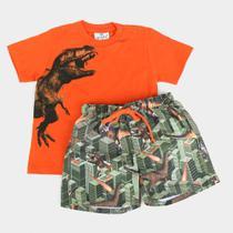 Conjunto Infantil Up Baby Dinossauro Masculino -