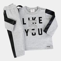 Conjunto Infantil Up Baby Moletom Like You Feminino -