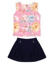 Conjunto Infantil Verão Tropical Floral, 2 peças - Quebra Cabeça -