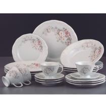 Conjunto Jantar Chá 30 Peças Eterna Porcelana Schmidt - Porcelanas schmidt