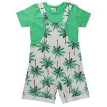 Conjunto Jardineira Infantil Menino Verde - Fantoni -