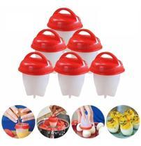 Conjunto Jogo Kit 6 Formas Copo Silicone Egg Boil Cozinhar Ovos - HomeCk