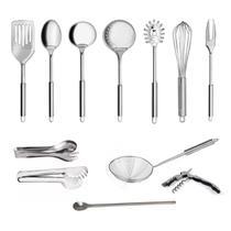Conjunto Jogo Kit Colheres De Inox Utensílios Cozinha 12 Peças - Homeyz