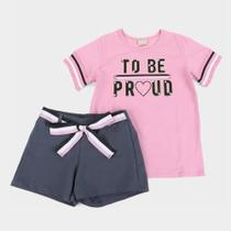 Conjunto Juvenil Milon Com Shorts Molicotton To Be Feminino -