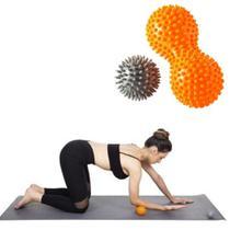 Conjunto kit rolo e bola de massagem vollo -