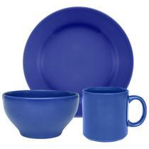 Conjunto Lanche de 3  Peças Biona Donna Azul -