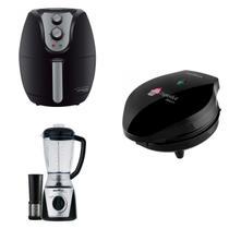 Conjunto Liquidificador, Máquina de Cupcake e Fritadeira 220V Britânia Preto -