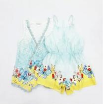 Conjunto macacão infantil butterfly petit cherie 80032 -