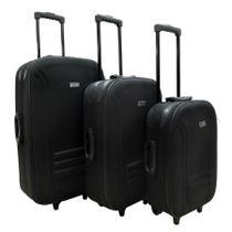 Conjunto malas de viagem Lucerna 3 Peças Swiss Move Preta -