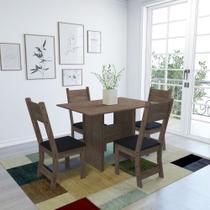 Conjunto Mesa 110cm 4 Cadeiras Vera Indekes -