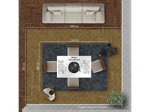 Conjunto Mesa Creta Vidro Branco 4 Cadeiras Olimpia Imbuia/Imbuia/Veludo Palha - 8583.51.62.32 Leifer Móveis - Leifer moveis