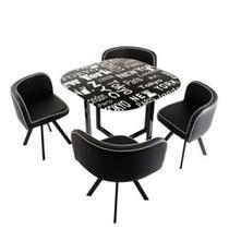 Conjunto Mesa de Jantar 4 Cadeiras Pizza - Just Home Collection