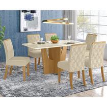 Conjunto Mesa de Jantar Henn Vértice com 06 Cadeiras Vita 1600 x 800 - Kit