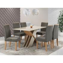 Conjunto Mesa de Jantar Sonetto Sarah com 6 Cadeiras Elegance 160x90cm -