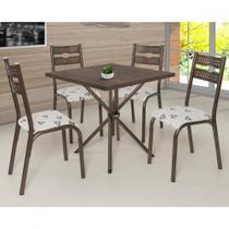 Conjunto Mesa e 4 Cadeiras Luna Ciplafe -