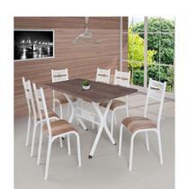 Conjunto Mesa Luna 1.40  6 Cadeiras - Ciplafe