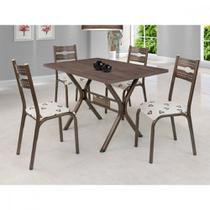 Conjunto Mesa Tampo BP TOK e 4 Cadeiras Luna Ciplafe -