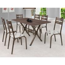 Conjunto Mesa Tampo BP TOK e 6 Cadeiras Luna Ciplafe -