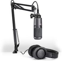 Conjunto Microfone AT2020 Fone M20x Audio Technica AT2020PK - Audio-Technica