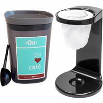 Conjunto Mini Coador De Café E Pote Hermético Para Café Ou Preto com Chumbo -