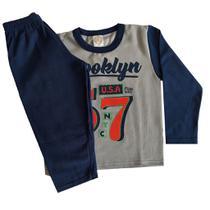 Conjunto Moletom Infantil Cinza Brooklyn - Kontrato - Yupy Kids