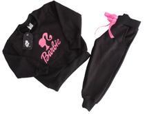 Conjunto Moletom Infantil meninas Calça + Casaco Barbie Tam 2 à 8 - Viral Elegance Kids
