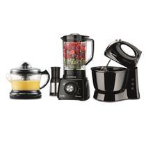 Conjunto  Mondial Gourmet Preto (Espremedor Premium + Batedeira Power Prática + Liquidificador Power -