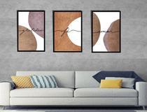conjunto mosaico quadros sala cozinha  consultório 3unidades  Gratidão fé amor -