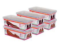 Conjunto ORDENE Caixa Para  Sapato- LEVE 6 PAGUE 5-Cor TRANSPARENTE -