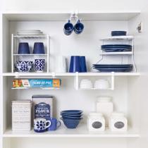 Conjunto organizador armário cozinha Metaltru - Cesto Xícara Prato rack suporte embalagem - 5 Un - Cozinha 04 -