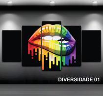 Conjunto paineis Quadro decorativo mosaico Mosaico 5 Peças DIVERSIDADE - Neyrad