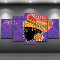 Conjunto paineis Quadro Mosaico 5 Peças AFRICA Painel decorativo mosaico - Neyrad